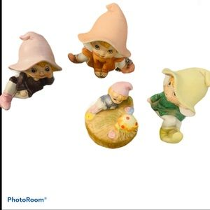 homco ceramic pixie elf figurines collectible 1970